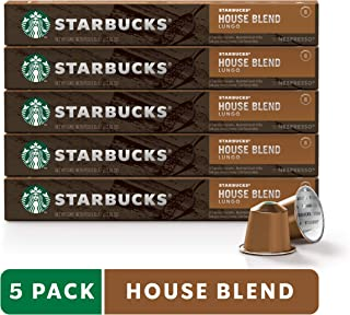 Starbucks by Nespresso, House Blend (50-count single serve capsules, compatible with Nespresso Original Line System)