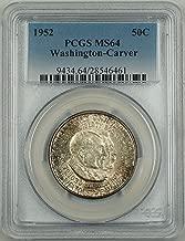 1952 No Mint Mark Washington Carver Half Dollar PCGS MS-64