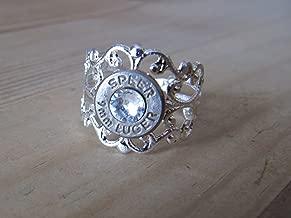 Bullet Ring - Filigree 9mm bullet ring - Bullet Jewelry