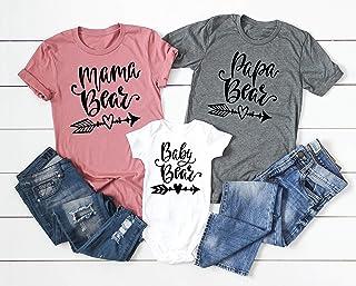 Mama Bear Papa Bear Baby Bear Matching Shirt Set Sister Bear Brother Bear Family Bear Shirts Mommy and Me Shirts Daddy and Me Shirts