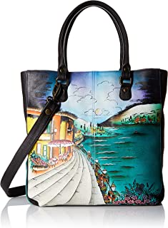 Anuschka Handpainted Leather Multi Compartment Shopper Moonlight Capri