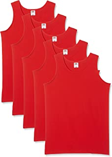Fruit of the Loom Men's Athletic Lightweight Vest (Pack of 5)