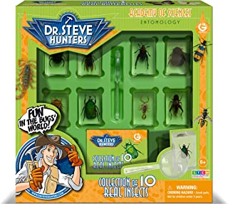 Uncle Milton Dr. Steve Hunters - Bugs World Collection - 10 Real Insects - Scientific Educational Toy