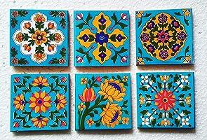 Shiv Kripa Blue Pottery Pattern Ceramic Home Decor Flooring Wall Kitchen Washroom Tabletop Interior Exterior Wall...