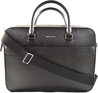Michael Kors Harrison Men's Saffiano Leather Front Zip Briefcase Computer Laptop PC Shoulder Crossbody Messenger Bag