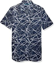 Perry Ellis Men's Big and Tall Shattered Labyrinth Print Short Sleeve Shirt