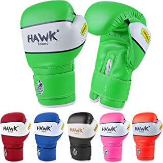 Hawk Sports Kids Boxing Gloves for Kids Children Youth Punching Bag Kickboxing Muay Thai Mitts MMA Training Sparring Gloves