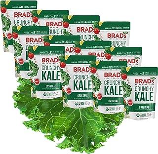 Brad's Plant Based Organic Crunchy Kale, Original, 12Count