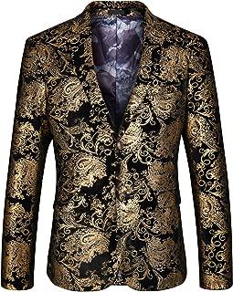 gold floral suit jacket