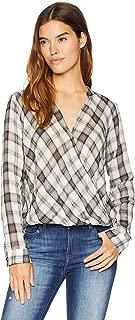 Splendid Women's Surplice Front Plaid Shirt