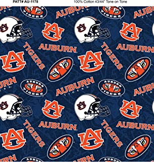 Auburn University Cotton Fabric with New Tone ON Tone Design Newest Pattern