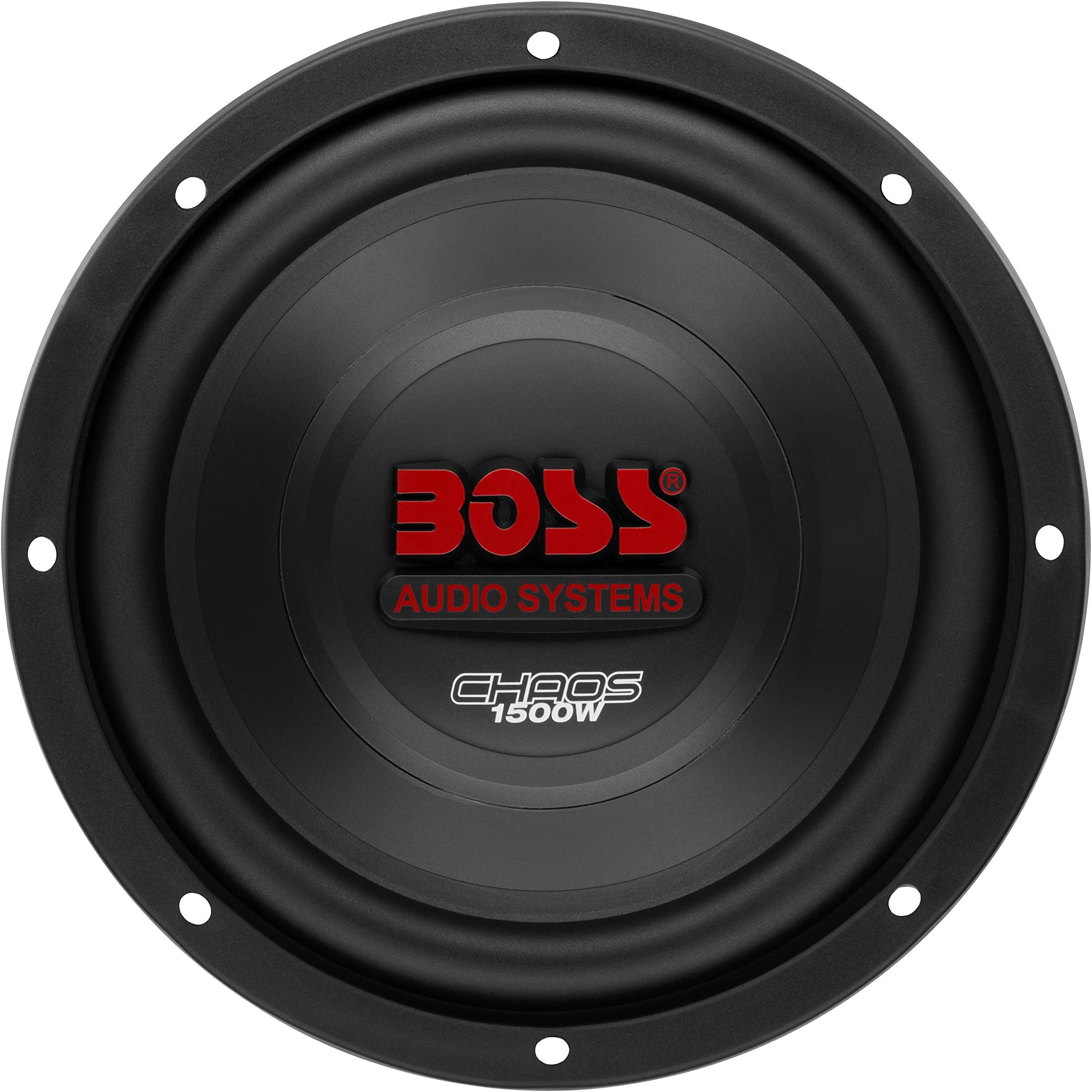 Amazon.com: BOSS Audio Systems CH10DVC 1500 Watt, 10 Inch, Dual 4 Ohm Voice  Coil Car Subwoofer: Car ElectronicsAmazon.com