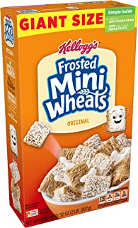 Kellogg's Frosted Mini-Wheats, Breakfast Cereal, Original, Good Source of 7 Vitamins and Minerals, Family Pack, 32oz Box