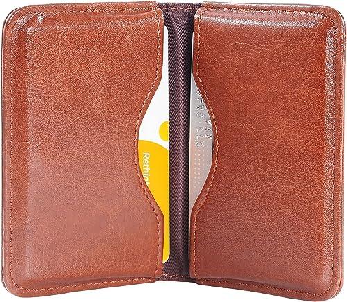 porta carte di credito per uomini e donne per tenere i biglietti da visita puliti Porta biglietti da visita in pelle e acciaio inox di lusso Z-coffee