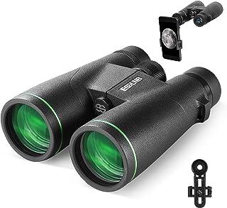 Image of ESSLNB 12X50 Binoculars BAK4 Green Film FMC Waterproof Binoculars with Phone Adapter 22mm Large Eyepiece Compact Binoculars for Hunting Bird Watching