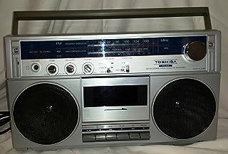 TOSHIBA BOOM BOX-GETTO BLASTER AM/FM RADIO CASSETTE PLAYER-RECORDER