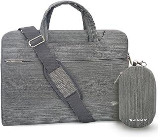 Youpeck 12-13.3 inch Laptop Sleeve Bag Multi-Functional Business Briefcase Handbag Shoulder Bag Messenger Case for MacBook Pro 13/iPad Pro/Lenovo ASUS Dell Acer Samsung Chromebook - Suit Grey