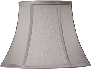Pewter Gray Bell Lamp Shade 7x12x9 (Spider) - Springcrest