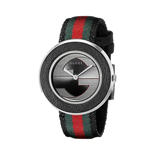 fd9403abe80 Gucci U Play Collection Stainless Steel Women s Watch with Striped Nylon  Band(Model YA129444