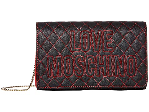 LOVE Moschino Top Stitch Logo Quilted Bag