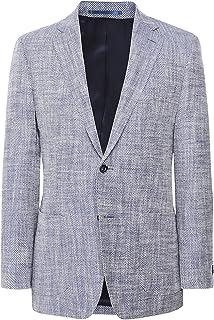 Jules B Men's Linen Silk Herringbone Jacket Blue