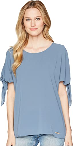 Cold Shoulder Bow Top