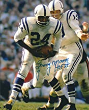 Autographed Lenny Moore Hof 8x10 Baltimore Colts Photo