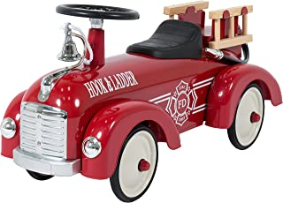Best Choice Products Push Ride On Fire Truck Speedster Metal Car Kids Outdoor