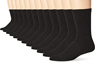Mens 12-Pack FreshIQ Odor Protection Crew Socks