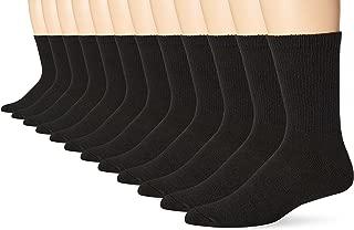 Hanes Mens 12-Pack FreshIQ Odor Protection Crew Socks