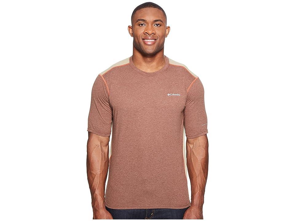 Columbia Big Tall Silver Ridge Short Sleeve T-Shirt (Pony Heather/British Tan/Tuscan) Men