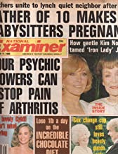 National Examiner 1986 Nov 11 Cybill Kim Novak,Iron Lady Jane