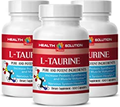 Organic Taurine Powder - L-Taurine 500MG - (3 Bottles)