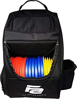 Fit Active Sports Discs Golf Backpack | 28 Disc Capacity | Lightweight and Durable | 2 Side Pockets with Water Bottle Holder | Travel Bag