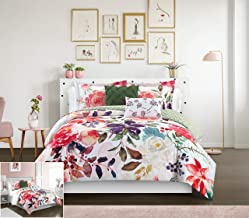 Chic Home Philia 5 Piece Reversible Comforter Set Floral Watercolor Design Bedding - Decorative Pillows Shams Included, Ki...