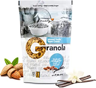 Grandma Emily Almond Vanilla Super Crunch Granola Clusters Made With Pufffed Rice Almonds and Canadian Rolled Oats 8.82 oz (4 Pack)