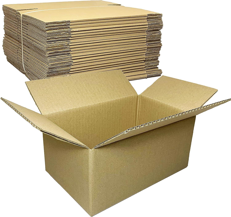Pack 25 Cajas de Carton Medianas Regalo para ECommerce y Postal | 18cm x 12cm x 26cm | Cajas para Envios Pequeñas Marrón Kraft