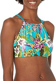 Coastal Blue Womens Highneck Underwire Bikini Top