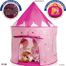 Play22 Play Tent Princess Castle Pink – Kids Tent Features Glow in The Dark Stars..