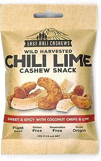 East Bali Cashews, Chili Lime Cashew Nut Snack Packs (10 Count) - Gluten Free, Non-GMO, Vegan Friendly