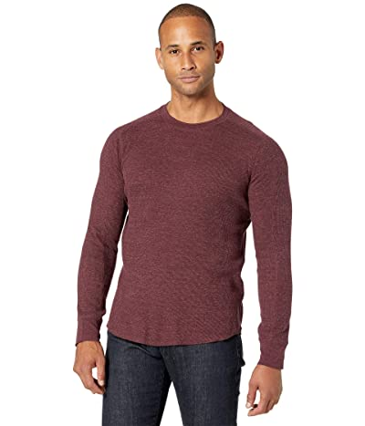 Vince Long Sleeve Crew (Heather Sonoma Red) Men