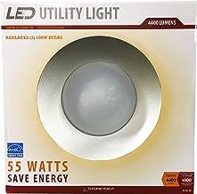 StonePoint LED Lighting Utility Light Energy Efficient Bright Daylight Bulb with Shroud Fits Standard Edison Base 4000K an...