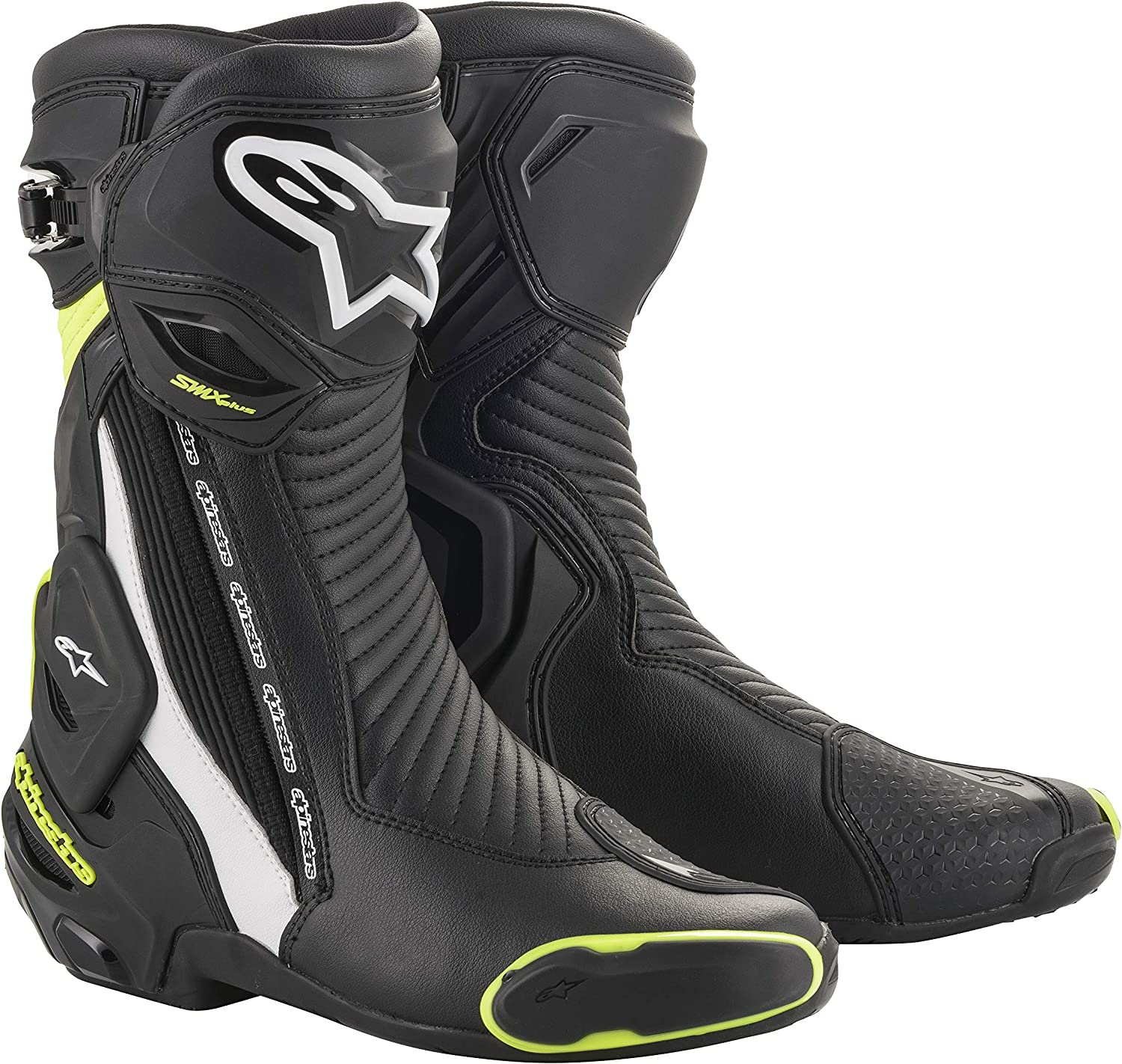 Alpinestars Now free shipping Men's SMX Plus V2 cheap Black Riding Motorcycle Whit Boot