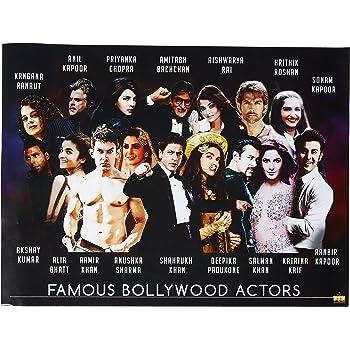 777 Tri-Seven Entertainment Famous Bollywood Actors Poster Hindi Movie Indian Actress Art Print 24 x 18