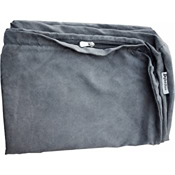 Dogbed4less Suede Duvet Pet Bed Cover for Small Medium to Large Jumbo Dog Bed in Gray Color - 7 Sizes - Replacement Cover only