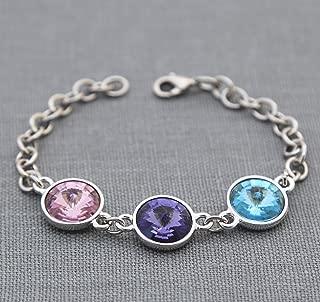 Personalized Grandmothers Jewelry, Birthstone Mothers Bracelet