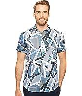 Calvin Klein - Multicolor Abstract Print Button Down Shirt