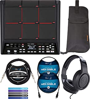 Roland SPD-SX Sampling Percussion Pad Bundle with Wave Manager Software, Instrument Bag, Samson SR350 Headphone, Hosa 10' Straight Instrument Cable (1/4