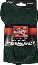 Rawlings Baseball Socks 2 Pair (Medium/Dark Green)