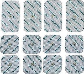 Healthcare World Conjunto de mezclada de 12 electrodos TENS Tachonado para Beurer and Sanitas